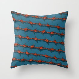 Barb Wire pattern Throw Pillow