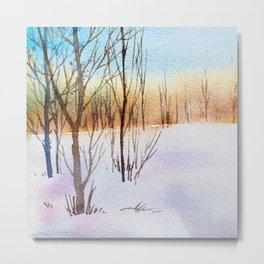 Winter Forest 4 Metal Print