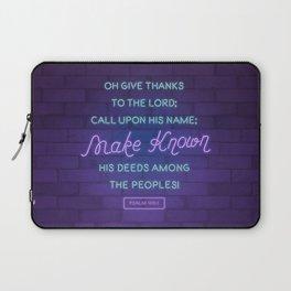 Psalm 105:1 Laptop Sleeve