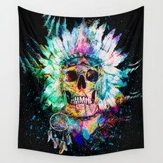 SKULL WILD S. Wall Tapestry