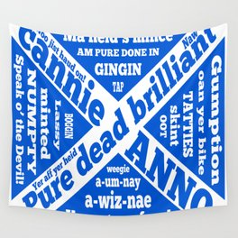 Scottish slang and phrases Wall Tapestry