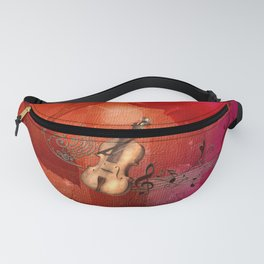 Music, violin with violin bow Fanny Pack
