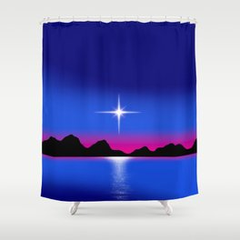 Star Horizon 102 Blue Sky Shower Curtain