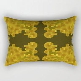 Gold Brocade Rectangular Pillow