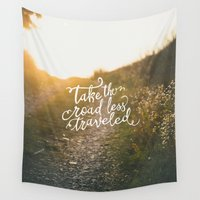 pocketfuel Wall Tapestries featuring The Road by Pocket Fuel