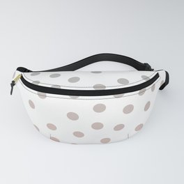 Simply Dots in Coral Peach Sea Green Gradient on White Fanny Pack