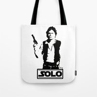 han solo Tote Bags featuring Han Solo by Mister Munny