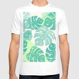 Linocut Monstera Green T-shirt