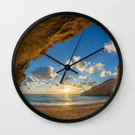 Porto Katsiki beach Wall Clock