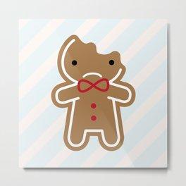 Sad Bitten Cookie Cute Gingerbread Man Metal Print
