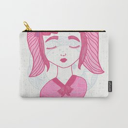 Girl and Moon Carry-All Pouch