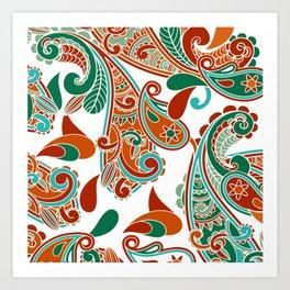Paisly Print Art Print
