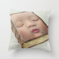 facebook Throw Pillows featuring facebook by Vin Zzep