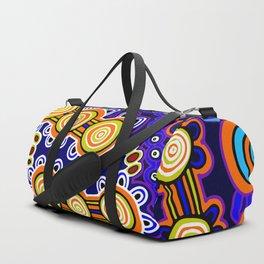 Authentic Aboriginal Art - Yugarabul Gathering Duffle Bag