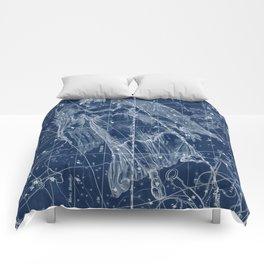 Virgo sky star map Comforters