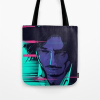 movie poster Tote Bags featuring Oldboy - Alternative movie poster by FourteenLab