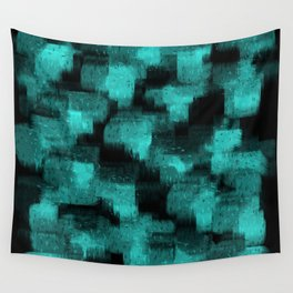 high contrast blue black painted reflections Wall Tapestry