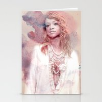 rihanna Stationery Cards featuring Rihanna by Kanelko