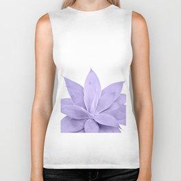 Ultra Violet Agave on White #1 #tropical #decor #art #society6 Biker Tank