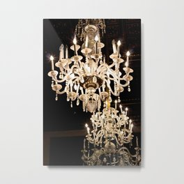 Chandeliers in the Night of Italy Metal Print