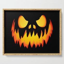 Evil Halloween pumpkin Serving Tray