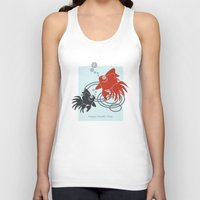 the life aquatic Tank Tops featuring Happy Aquatic Days by Wind-Up Sprout Design