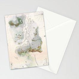Vintage Map of Cedar Key Florida (1852) Stationery Cards