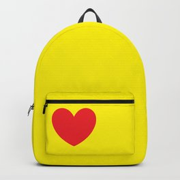 Red heart in yellow Backpack