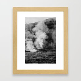 steamy Framed Art Print