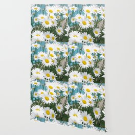 Daisies flowers in painting style 3 Wallpaper