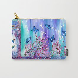 Purple and Pink Carry-All Pouch