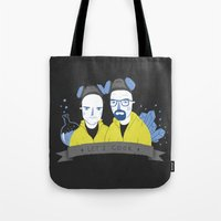 cook Tote Bags featuring Let's cook by Paula García
