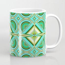 Pattern turquoise green Coffee Mug