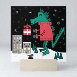 Kaiju Christmas Mini Art Print