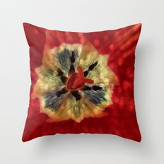 Red Tulip Abstract Throw Pillow