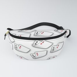 Playing Cards on White Fanny Pack