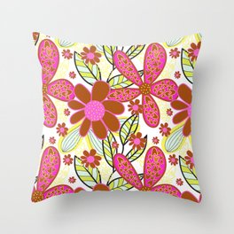 Floral Blast Throw Pillow