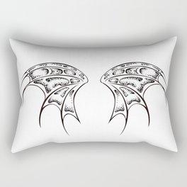 White dragon wings Rectangular Pillow