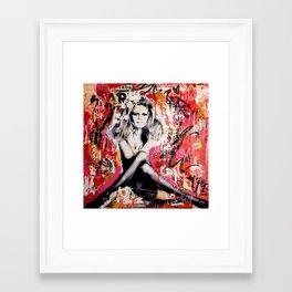Brigitte is in St-Tropez again Framed Art Print