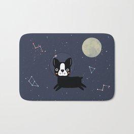 Boston Terrier In Space Bath Mat