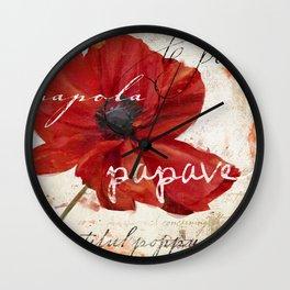 Le Pavot IV Wall Clock