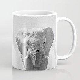 Elephant - Black & White Coffee Mug