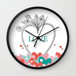 colorful love Wall Clock