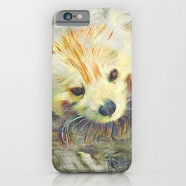 Artistic Animal Red Panda iPhone Case