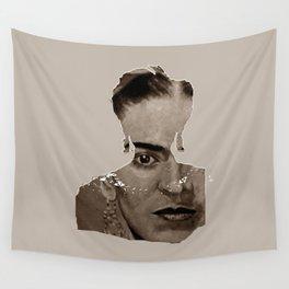 FRIDA - SHIRT version - sepia Wall Tapestry