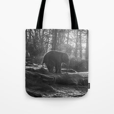The Little One // Black And White Wildlife Photography #society6 #decor Tote Bag
