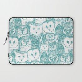 just owls teal blue Laptop Sleeve