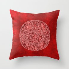 THE RED LABYRINTH Throw Pillow