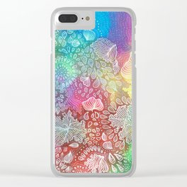 Water colors 2 - Rainbow corals Clear iPhone Case