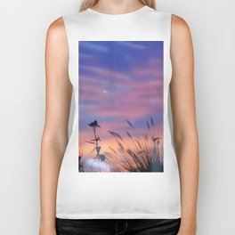 LOOK OUTSIDE - Flowers & Sunset #1 #art #society6 Biker Tank